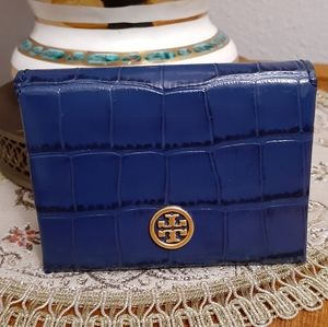 Tory Burch parker embossed card case holder